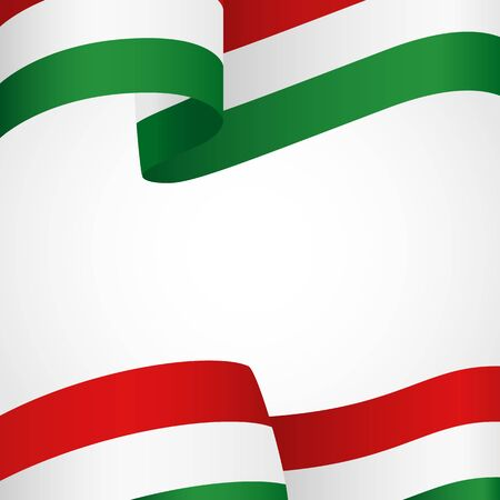 patriotic border: Decoration of Hungary insignia on white Illustration