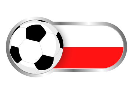 soccer team: Modern icon for soccer team with Poland insignia