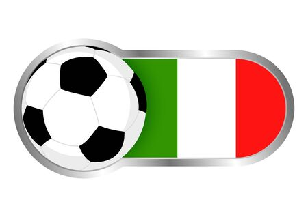soccer team: Modern icon for soccer team with Italy insignia Illustration