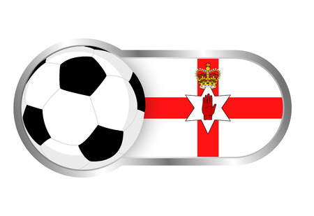 northern: Modern icon for soccer team with Northern Ireland insignia