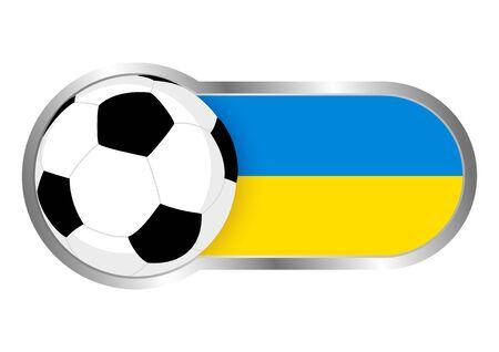 ukraine: Modern icon for soccer team with Ukraine insignia