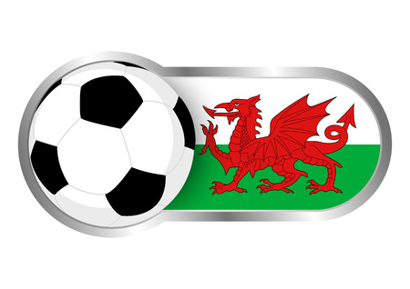 welsh: Modern icon for soccer team with Wales insignia