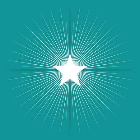 bright: Simple graphic of star burst