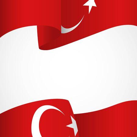 Décoration de la Turquie insigne sur blanc