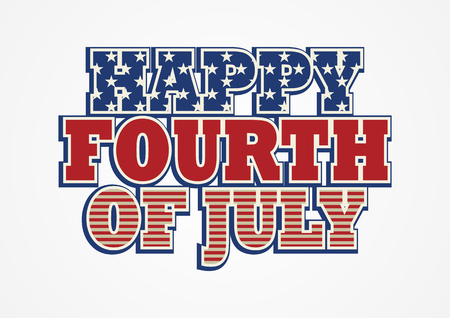 Gelukkig 4 juli, Independence Day design icoon