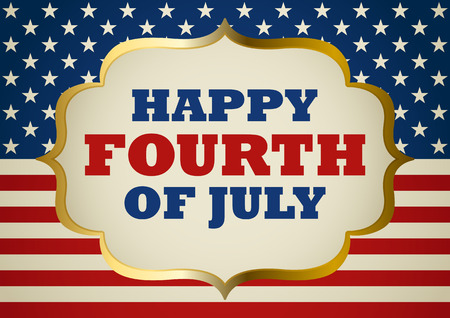 fourth of july: United States of America Fourth Of July symbol