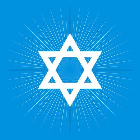 jewish star: Star of David, Jewish, religion symbol Illustration