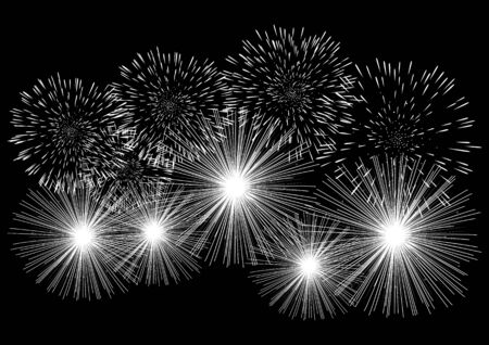 fire cracker: Graphic illustration of fireworks, for ceremony, celebration, new year, festive, design template background Illustration