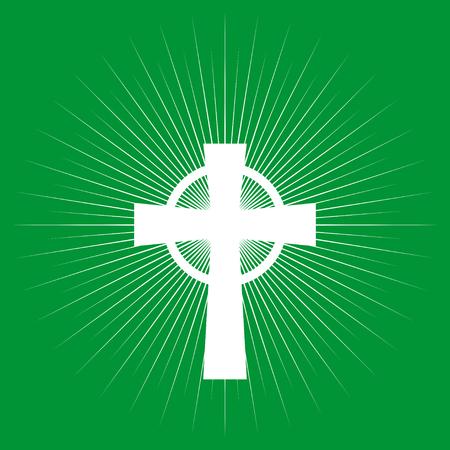 catholicism: Cross on light burst background, Catholic, Catholicism, religion symbol