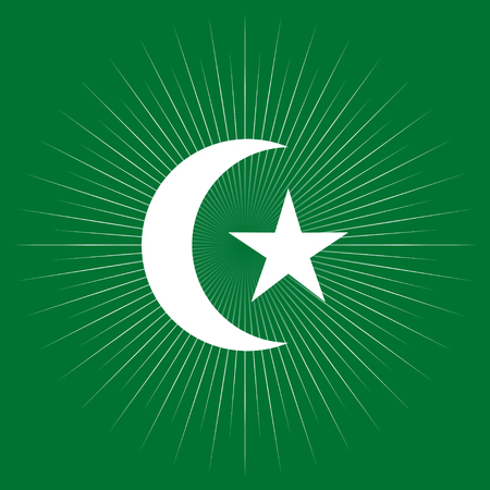 Star And Crescent Moon Islam Islamic Religion Symbol Royalty Free