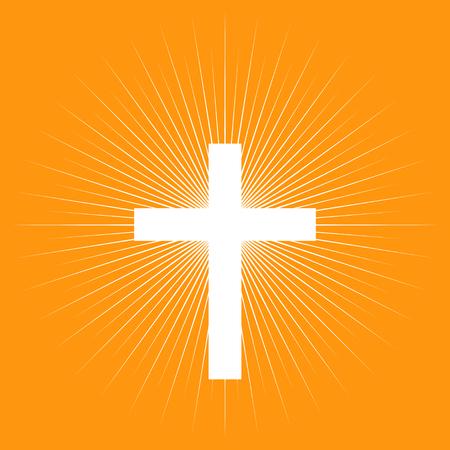protestantism: Cross on light burst background, Protestant, Protestantism, religion symbol