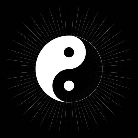 Yin and Yang symbol, Tao, Taoism, religion icon