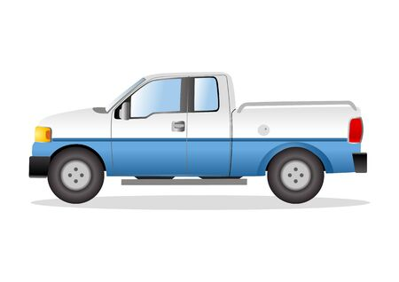 pick: Graphic illustration of a pick up truck