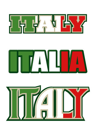 Text symbol and icon of Italy