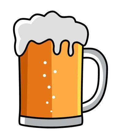 Illustration von einem Glas Bier