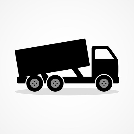industrial vehicle: Simple icon of a dump truck