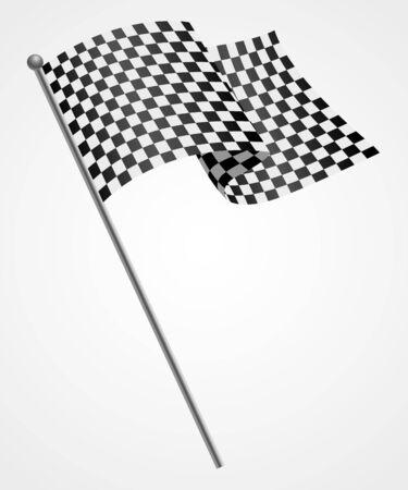 Illustration of a racing flag, winner, finish concept