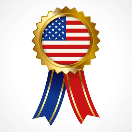 Badge or medal of United States of America insignia Illustration