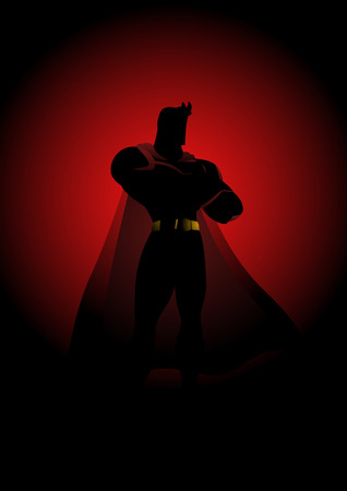 gallant: Silhouette illustration of a superhero in gallant pose Illustration