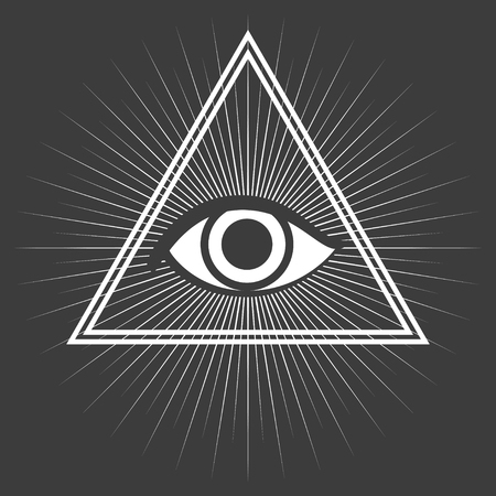 sociedade: símbolo maçônico isolado no fundo preto