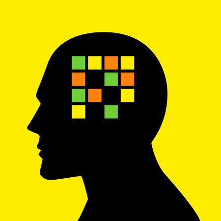 Mind concept graphic, analogy for memory loss, amnesia or alzheimers disease