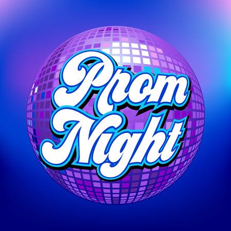 Prom Night Party Hintergrund für Poster Illustration