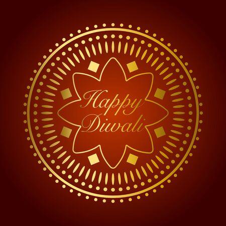 divali: Beautiful gold ornament for Diwali celebration or festival of light