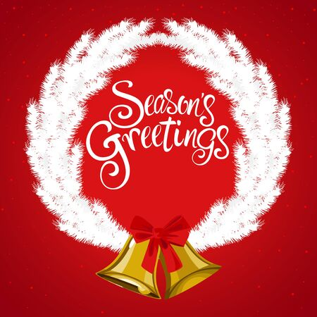 Christmas decoration and ornament with Seasons Greeting text