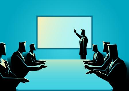 Business concept illustration of business presentation
