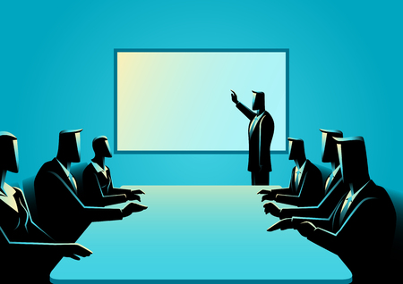 Business concept illustration of business presentation