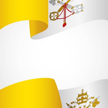 vatican city: Decoration of Vatican City insignia on white