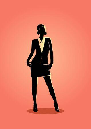 A businesswoman standing