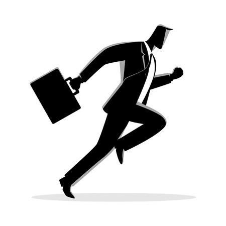 Businessman running with briefcase 向量圖像