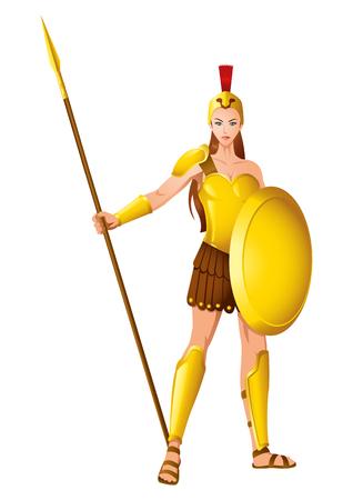 ギリシャの女神  イラスト・ベクター素材