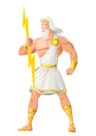 Greek god and goddess vector illustration series, Zeus, the Father of Gods and men