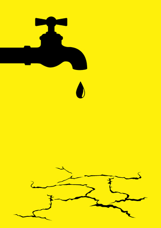 Vector illustration of a water tap on the dried cracked land Banco de Imagens - 90908774