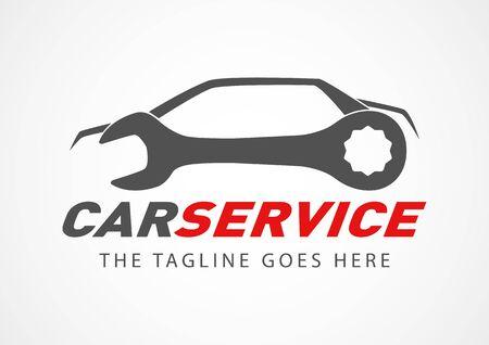Szablon projektu logo serwisu samochodowego na białym tle
