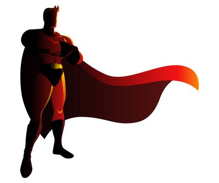 Vector illustration of a superhero in gallant pose