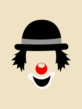 Simple graphic vector of a clown face 일러스트