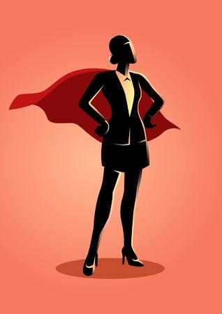 Biznes ilustracja koncepcja super bizneswoman