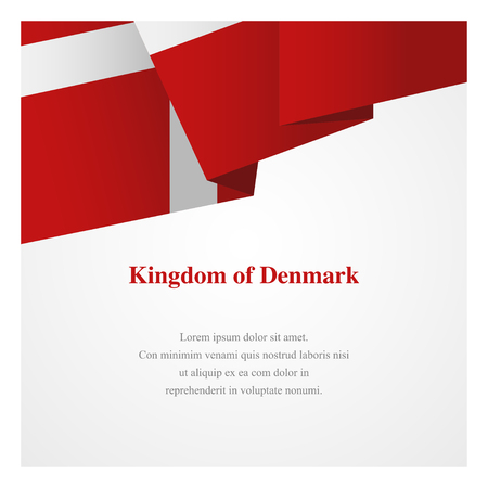 Denmark insignia template with copy space for greeting cards, posters, brochures or invitations
