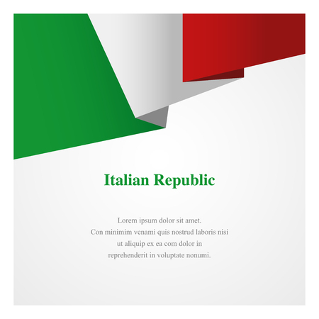 Italy insignia template with copy space for greeting cards, posters, brochures or invitations Illustration