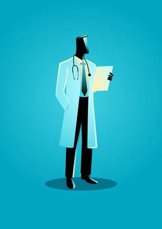 Graphic vector illustration of a doctor. Profession, occupation icon Illustration
