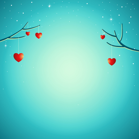 Vector illustration for romantic background, love theme for valentines day.