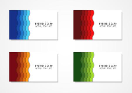 Vector illustration, design template for business card Illustration