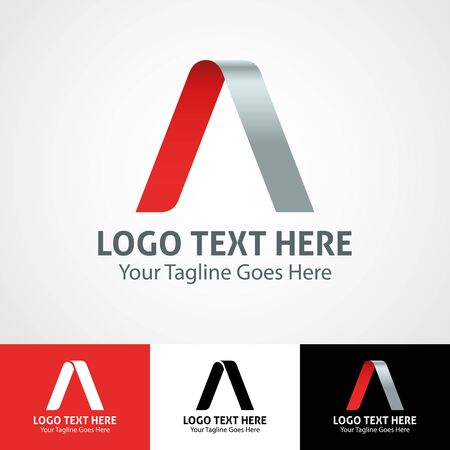 Modern elegant professional hi-tech trendy initial icon logo based on letter A.