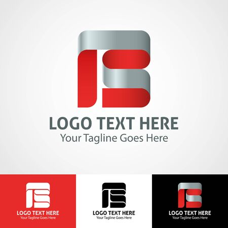 Modern elegant professional hi-tech trendy initial icon logo based on letter B.