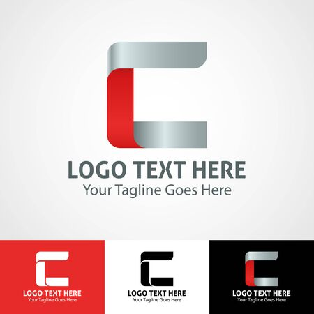 Modern elegant professional hi-tech trendy initial icon logo based on letter C.