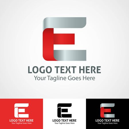 Modern elegant professional hi-tech trendy initial icon logo based on letter E.