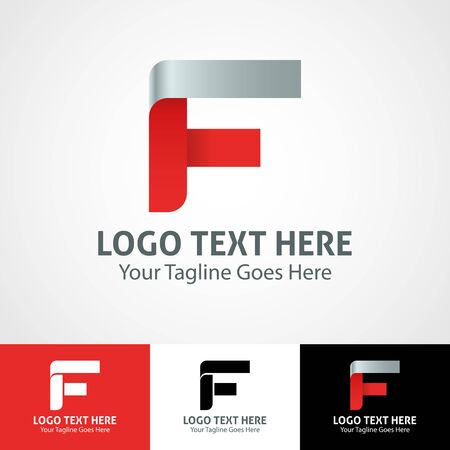 Modern elegant professional hi-tech trendy initial icon logo based on letter F.